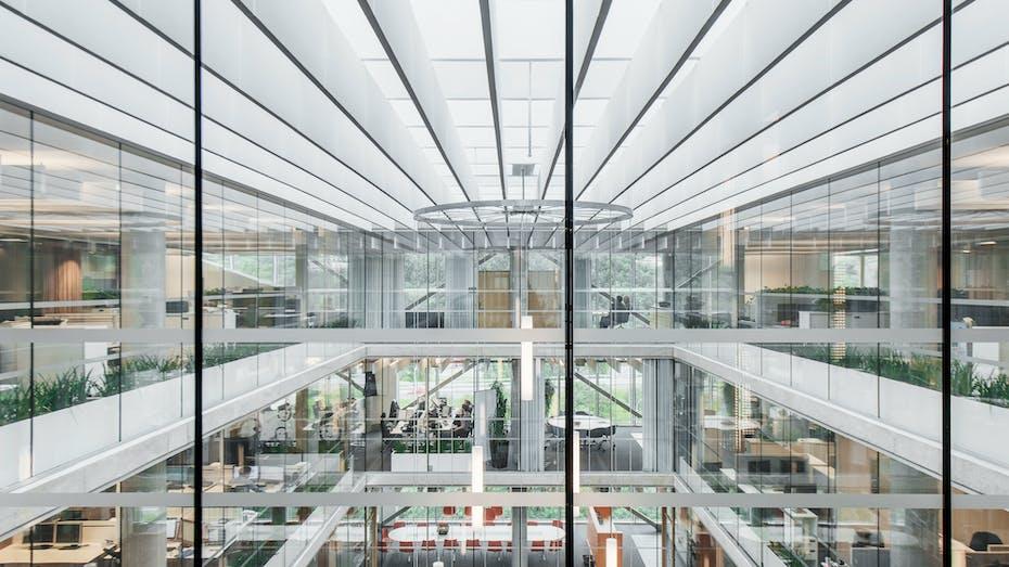 NO, Stålgården, ARC Arkitekter, Office, Rockfon Multiflex Baffle, 1200x300, white, Rockfon System T24 Baffle