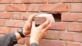 blow-in insulation, brick wall, eds, einblasdämmung, germany