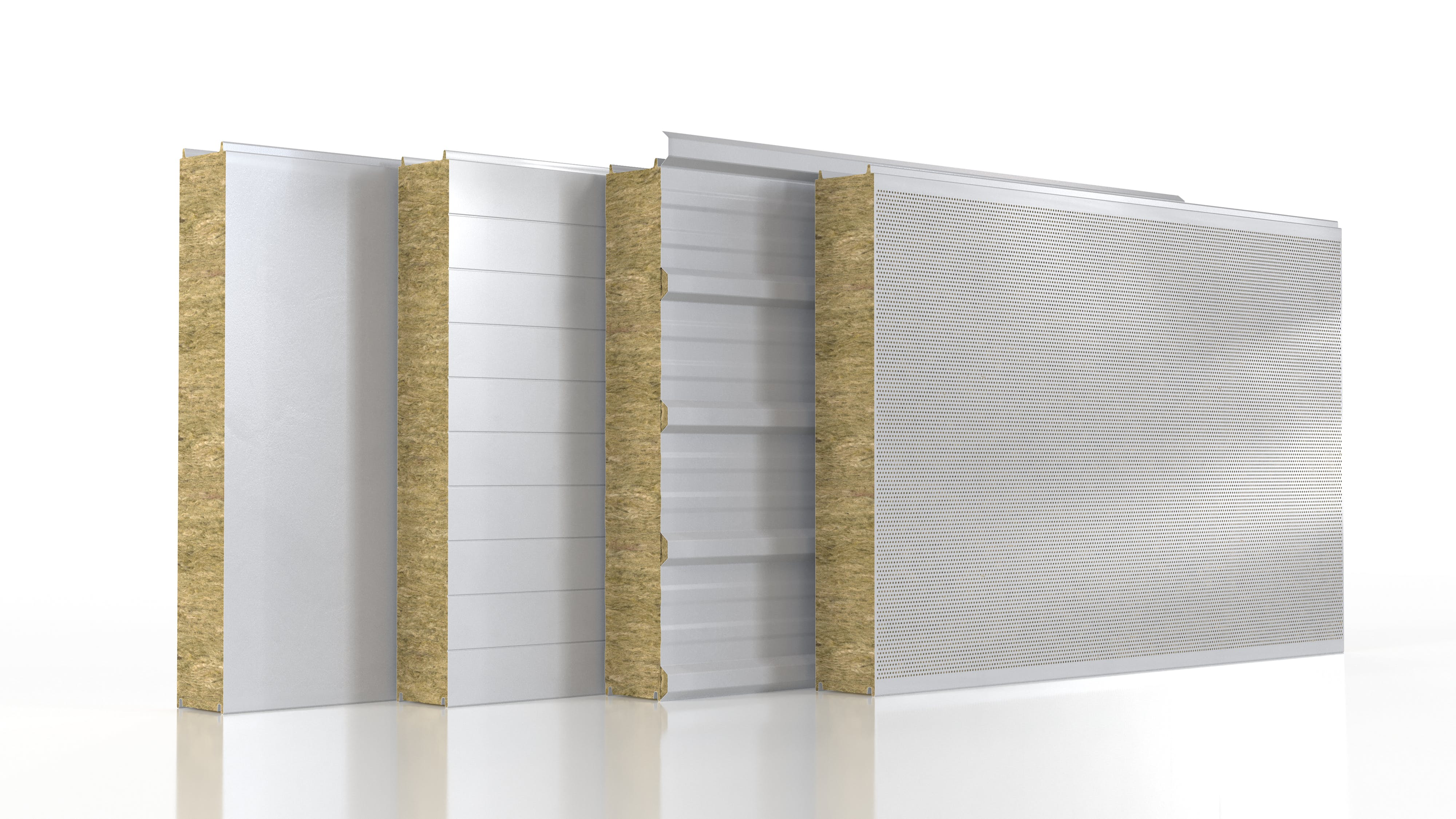 Graphic rendering of stone wool sandwich panels