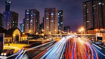 china beijing cars night street