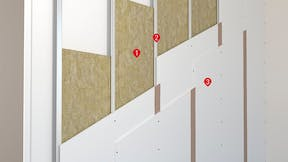 Application pics - inside wall, partition , acoustic wall