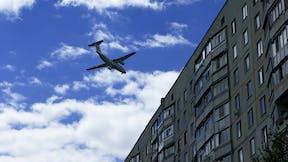 City, Airplane, Building