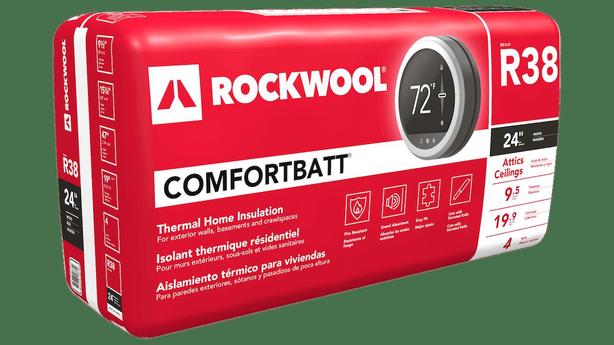 """Comfortbatt R38 Wood Stud 24"""" oc"""