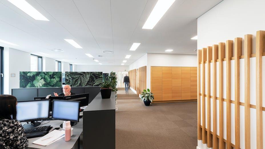 DK, Vejen Rådhus, Vejen, Transform-Pluskontoret-Rambøll, Office, Open Plan Office, Rockfon Blanka, X-edge, 1200x600, white