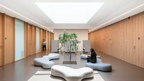 PL, Bialmed Sp. z o.o., Pisz, 3XA, Office, Rockfon Blanka, Rockfon Mono Acoustic, X edge, 1800x600x22, White, Corridor