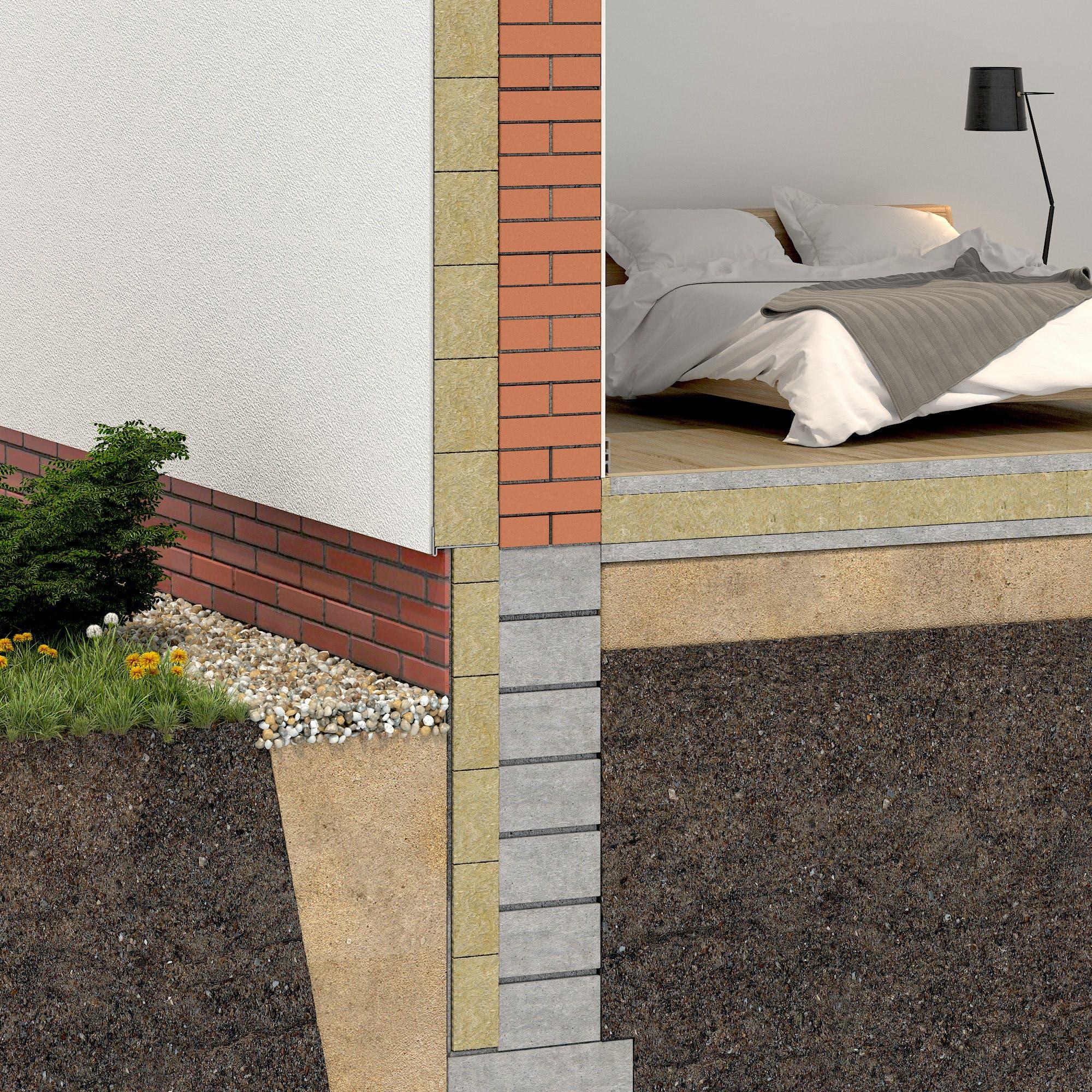 ETICS, external wall, clinker, interior, exterior