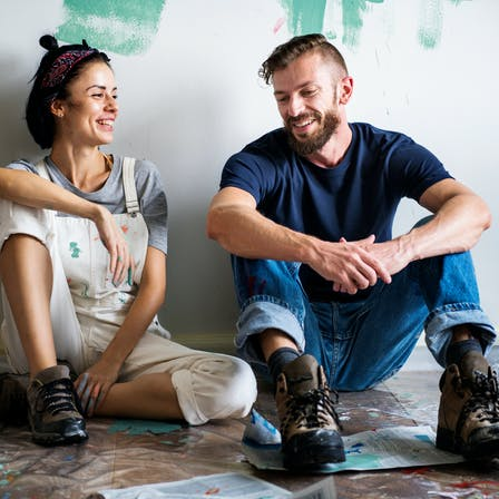 People, Humans, Couple, Painting, Home