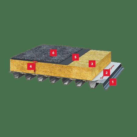 steel deck, insulation