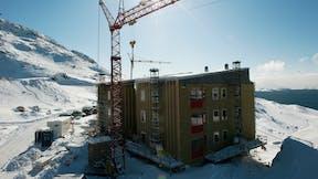 Refrence case, Greenland, Pinguaraq, apartments, REDAir MULTI, facade