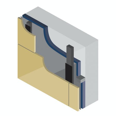 Ventilated sub-frame constructions with Rockpanel exterior cladding boards