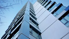 Belmont Case Study, ground view, building, residential building, high rise, exterior, cavityrock