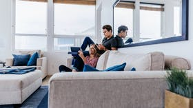 RockWorld imagery, Modern living, iphone, ipad, family, couch