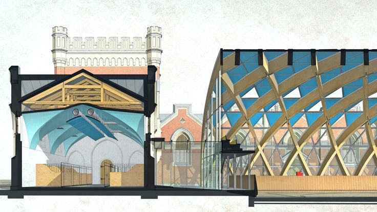 RU, Palace Stables in Peterhof, Concept of Ceiling, Story, Architect Competition