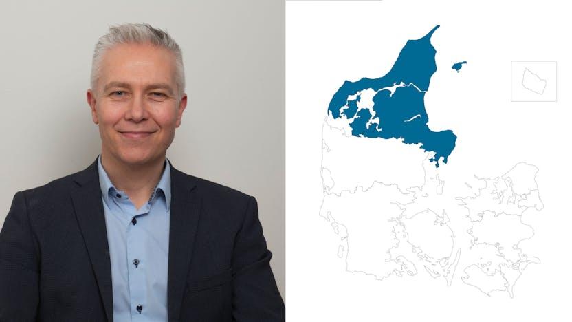 contact person, sales representative, profile and map, northern jutland, Jens Christian Kronbach, DK