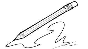 Pencil, drawing - large