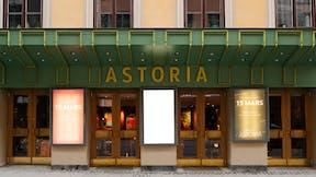 Exterior of Restaurant/Brasserie Astoria in Stockholm Sweden