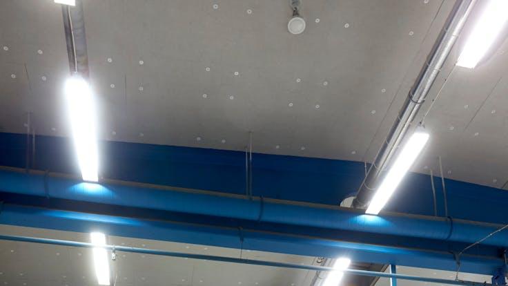Parafon Buller ceiling in colour Nature installed at Götenehus in Götene, Sweden.