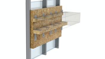 Firestop strips, curtain wall, fire protection, facade, FP. Franja cortafuego, muro cortina, fachada panel. Sistema Conlit MC 60-90. Conlit Alu