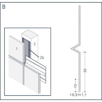 Profil B - Fugenprofil mit V-Kantung