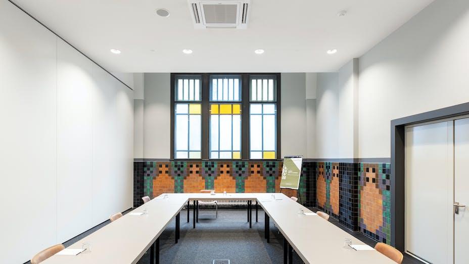 NL, Domusdela, Eindhoven, Leisure, Michael van Oosten, Architectenbureaus diederendirrix, Eindhoven & architecten EN?EN, Rockfon Mono Acoustic, Seamless, White, Meeting Room