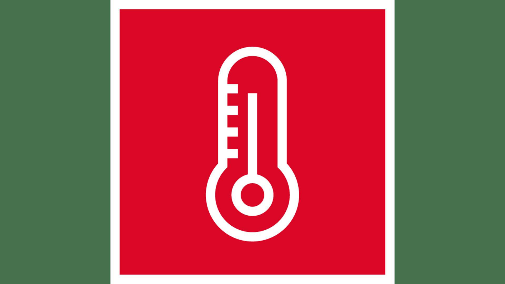 icon, 7 strenghts of stone, white on red background, for website, stärken von steinwolle, weiß auf rot, thermal properties, wärmeschutz, germany