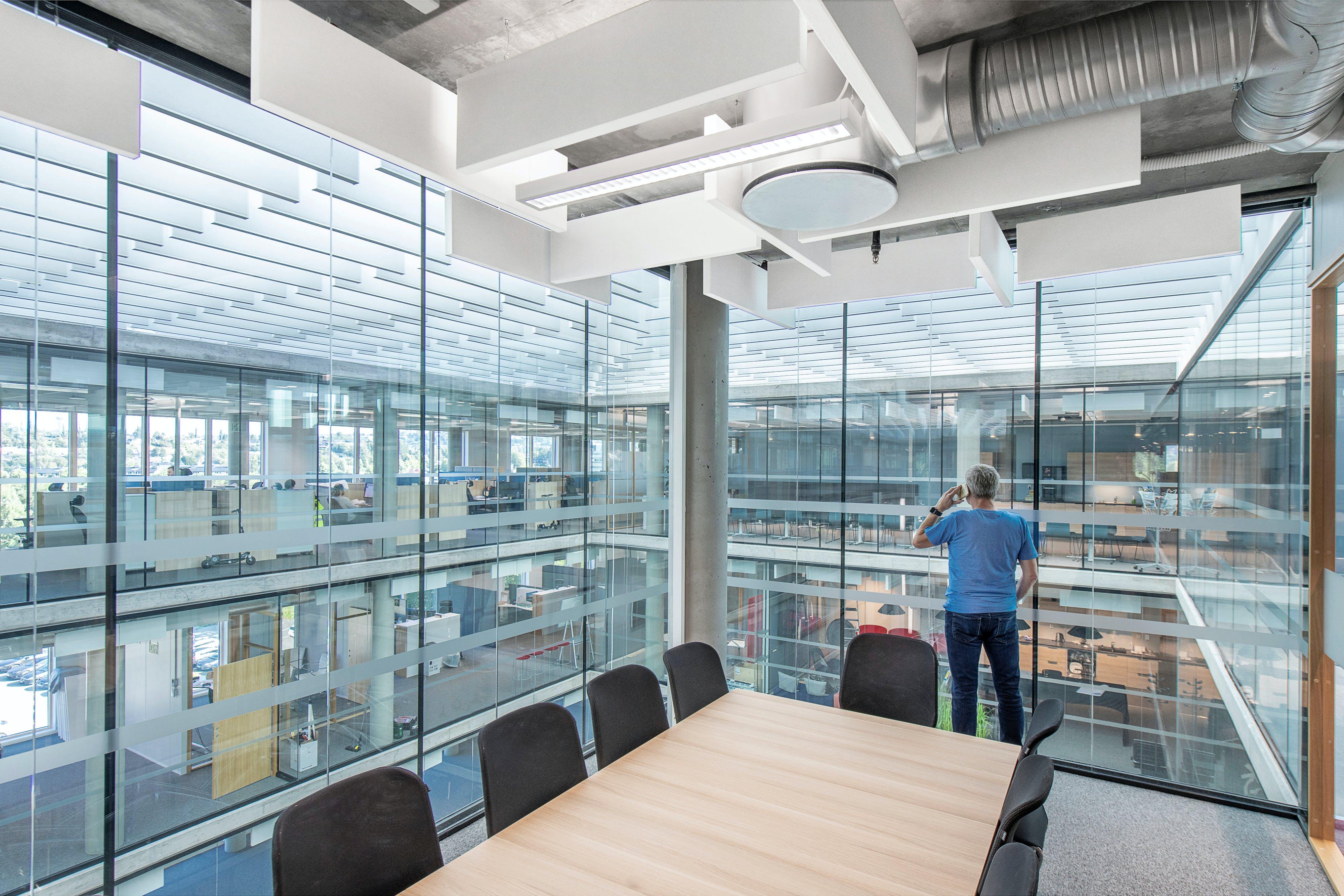 NO, Lysgården, Trondheim, HUS Arkitekter, Office, Rockfon Contour, Rockfon Mulitflex Baffle, White