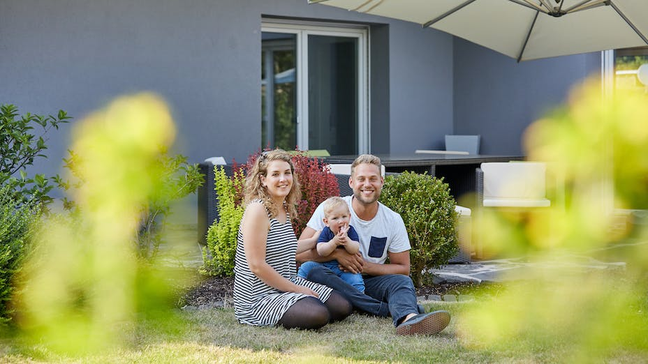 reference, wall, wall insulation, etics, family, house, home, garden, outside, single-familiy house, single-family home, single family house, dr. sälzer haus, germany, job 4994