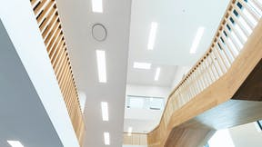 DK, Vejen Rådhus, Vejen, Transform-Pluskontoret-Rambøll, Office, Reception, Rockfon Mono Acoustic, white