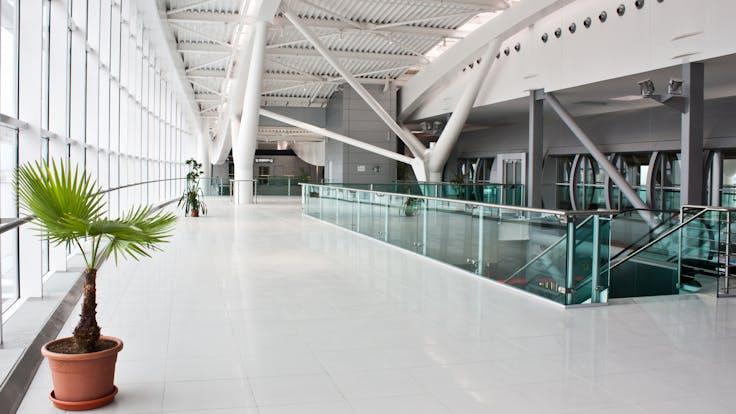 coatings, airport, building, glass, indoor, lapinus