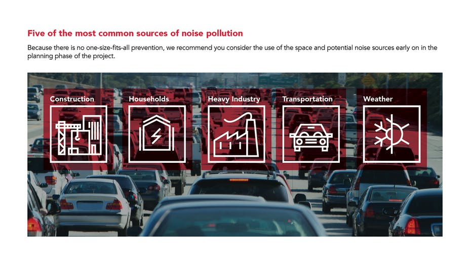 PNG - five of the most common sources of noise pollution - construction, households, heavy industry, transportation, and weather.