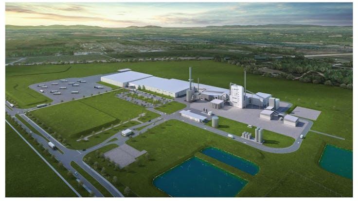 ROCKWOOL Ranson, Jefferson County, West Virginia final rendering of factory scheduled to open 2020