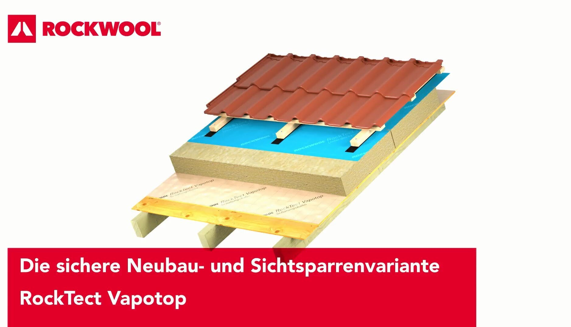 thumb, thumbnail, video, roof, pitched roof, insulation above the rafters, meisterdach, variante vapotop, rocktect vapotop, germany