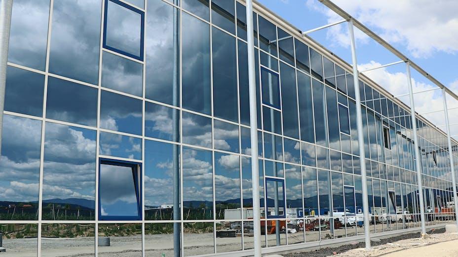 reference, egger glas, production hall, facade, gersdorf, austria