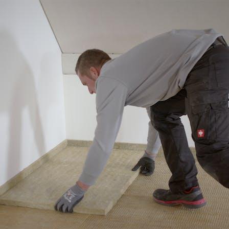 impact sound, footfall sound, footfall sound insulation, floor insulation, floorrock, installation, installation video, thumb, thumbnail, trittschall, trittschalldämmung, verarbeitung, verlegung, verarbeitungsvideo, germany