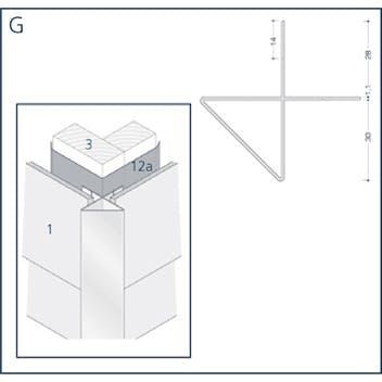 Profil G - Außeneckprofil