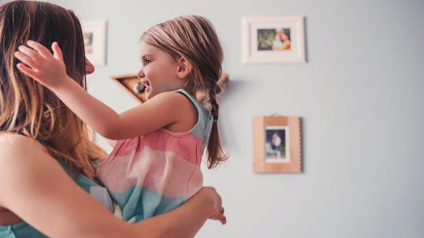 RockWorld imagery, Modern living, family, child, mother