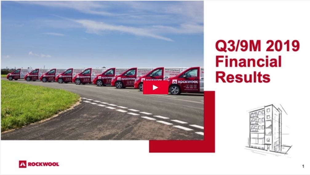 Thumbnail for webcast, Financial reports Q3 2019