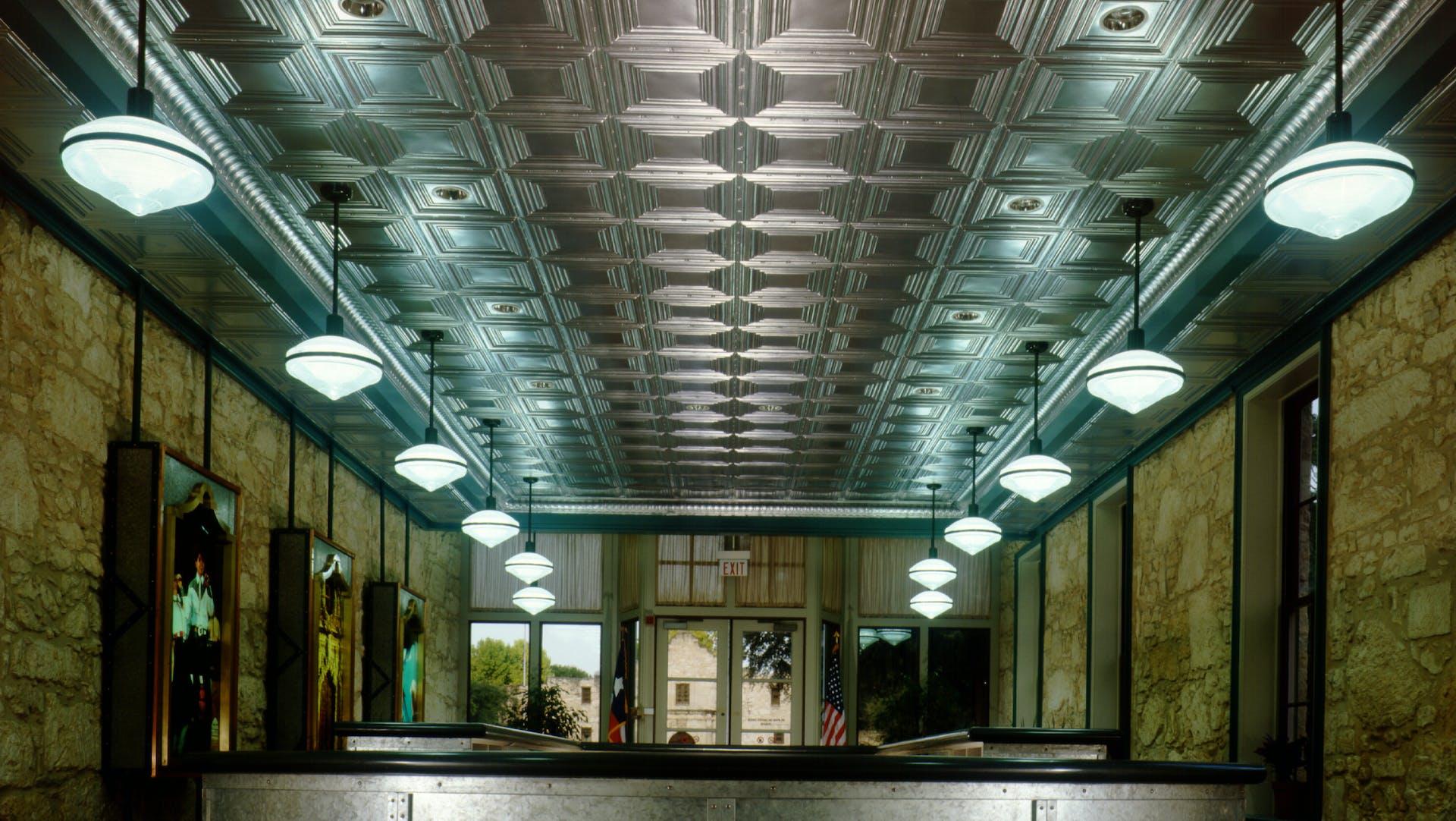 Traditions, embossed metal panels, metal cornices,