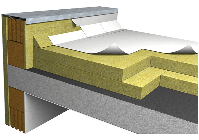 Roofing system on concrete deck