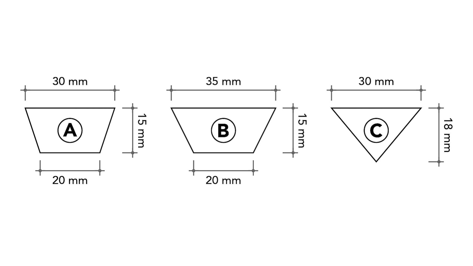 Coverrock Deko, ETICS, dimensions milling slot, germany