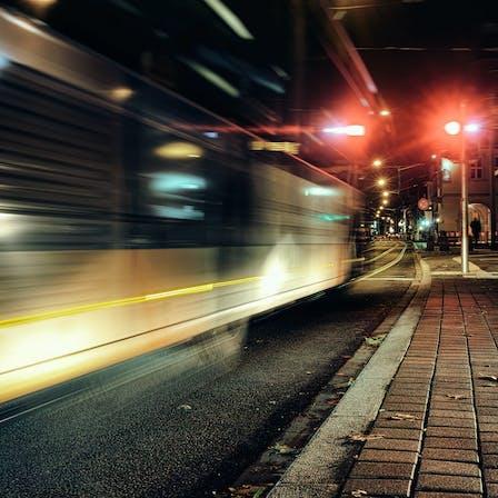 Urban, City Transport, Red lights, Tram, Trolley
