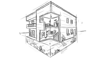 Sketch - Single family house, Home, homeowner