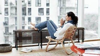 Indoor climate, woman, rain