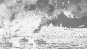 History of building codes and standards city fire in Boston in 1872.
