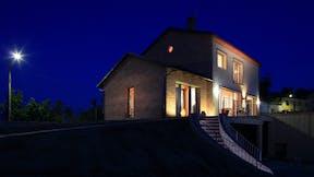 Cherasco Passive House, Circularity, night
