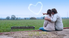 Our thinking, How to feed the world in 2050, Young couple, overlooking, green field, grodan