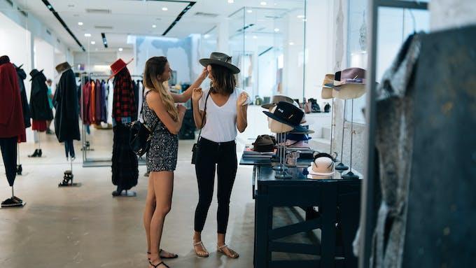 segment illustration, retail, clothing, people, boutique
