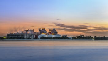 RockWorld imagery, The big picture, water,  factory, sky