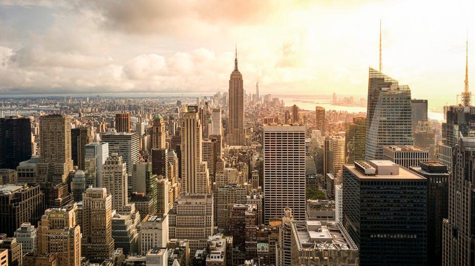 Blog article: Driving Innovation Through Renovation in New York City. New York city skyline.