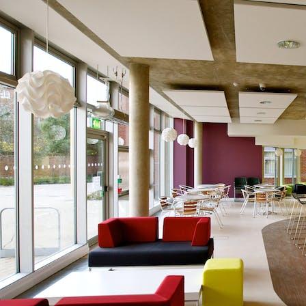 Rockfon Eclipse, UK Chichester cafe, leisure 2013